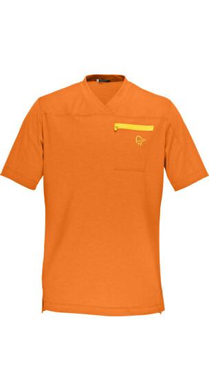 Norrøna M's Fjörå Equaliser Lightweight T-Shirt Pure Orange